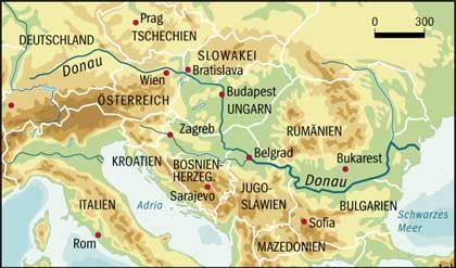 Donau: Europas zweitgrößter Fluss verbindet zehn Nationen