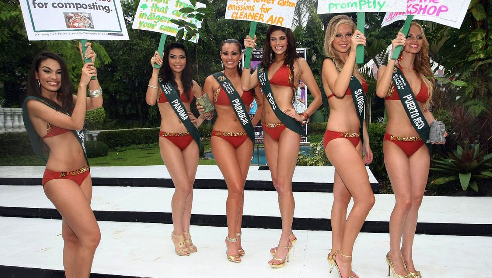 """""""Miss Earth""""-Wahl: Leicht bekleidet für eine bessere Welt"""