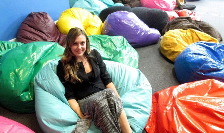 """Erin Brady im Seminarraum: """"Ich kann hier mit großartigen Menschen zusammenarbeiten"""""""