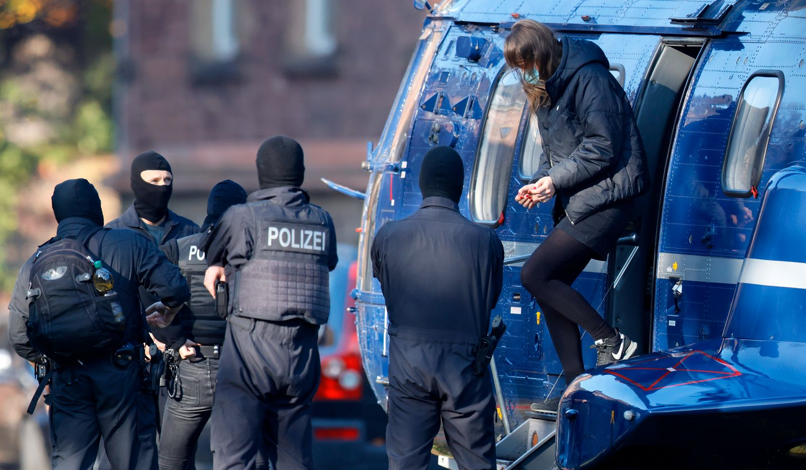 Arraignment of left wing suspect Lina E. at German Federal Prosecutor