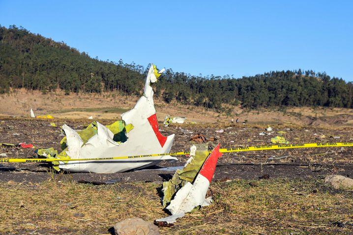 Wrackteile der abgestürzten Boeing 737 Max 8
