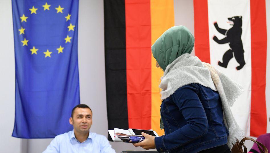 Wählerin in Berlin-Kreuzberg