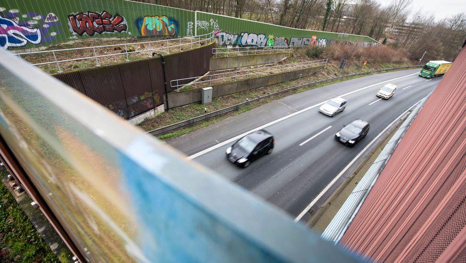 Die Autobahn 40 in Bochum