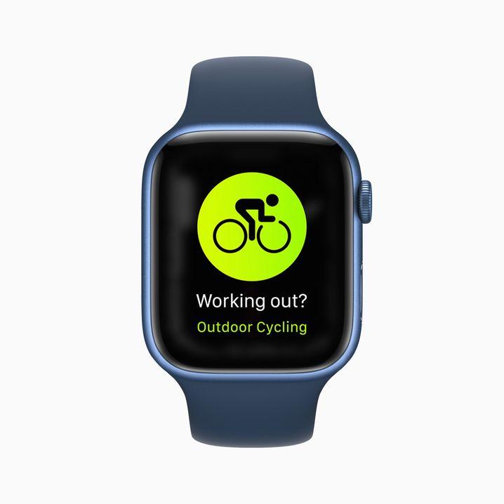 Apple Watch Series 7: Für die Fahrrad-Workouts braucht man keinen neuen Chip