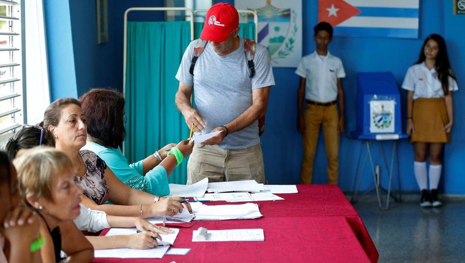 Wahllokal in Havanna