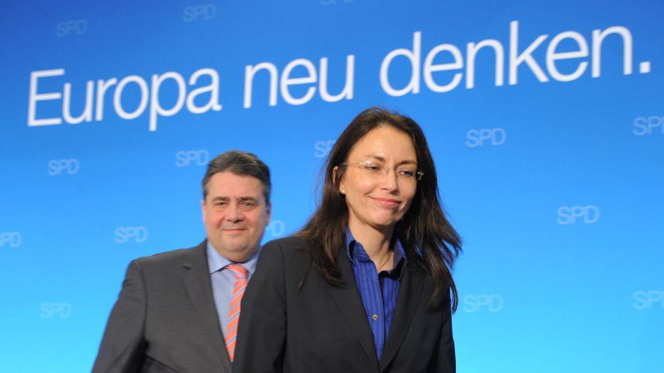 "SPD-Chef Gabriel, Generälin Fahimi: ""Landesverband völlig autonom"""