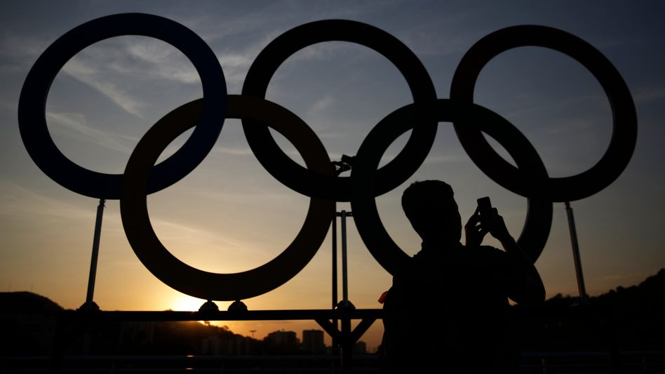 Olympische Ringe in Rio