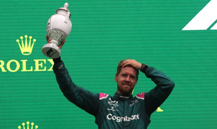 Ein seltenes Glück mit seinem neuen Rennstall: Platz zwei in Ungarn – nun ist Sebastian Vettel disqualifiziert worden
