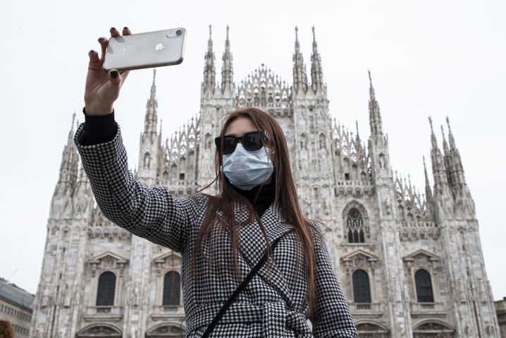 Italy has been essentially cleared of tourists, with travel to and from the country severely limited.