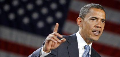 Präsidentschaftskandidat Obama: Derzeit in Umfragen klar vorn