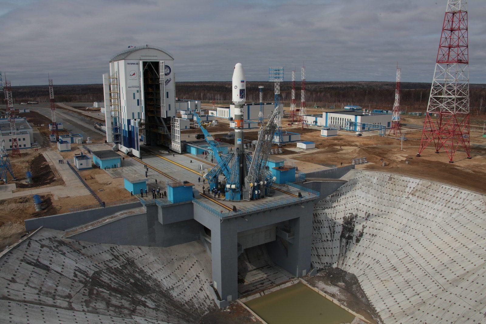 EINMALIGE VERWENDUNG Weltraumbahnhof Wostotschny