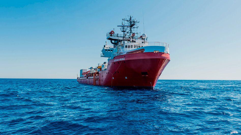 """Die """"Ocean Viking"""" am 22. Juni im Mittelmeer"""