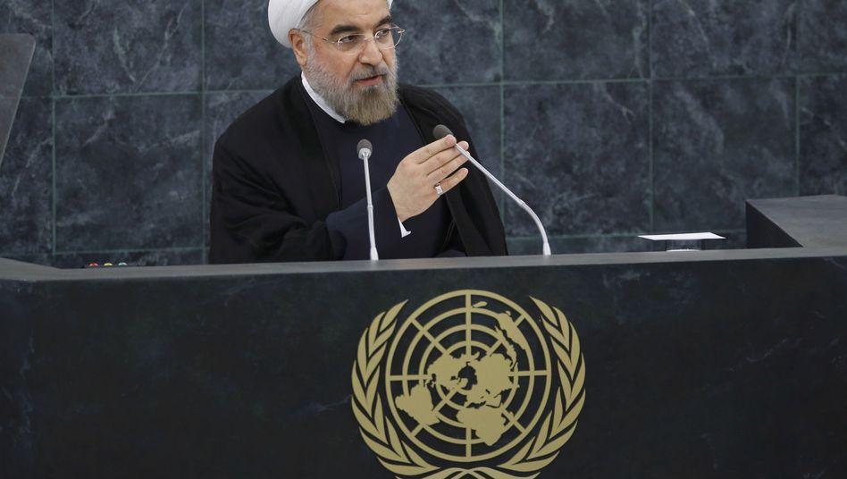 """Irans Präsident Rohani in New York: """"Die sogenannte iranische Bedrohung ist nur eine ausgedachte Bedrohung"""""""
