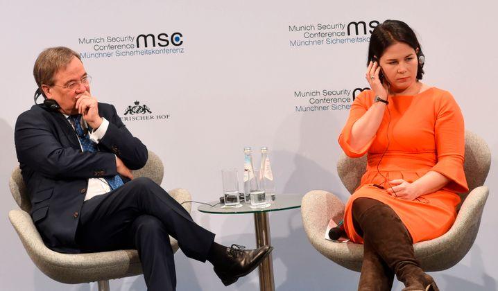 Laschet mit der Grünen-Co-Vorsitzenden Annalena Baerbock auf der Münchner Sicherheitskonferenz