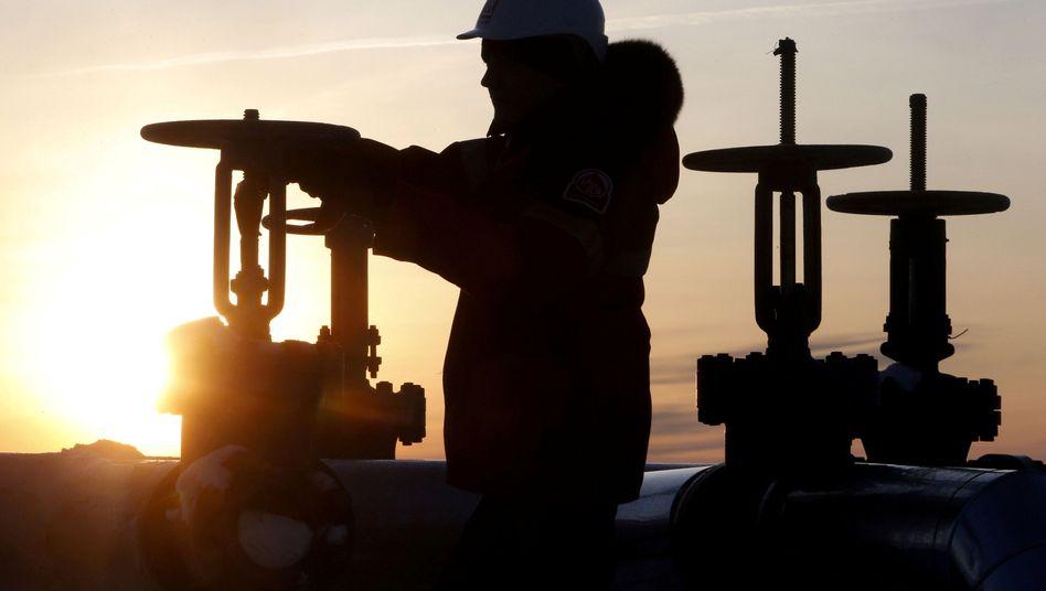 Ölpipeline in Sibirien