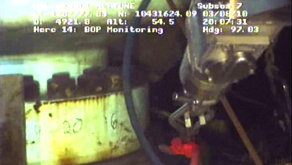 Erfolgsmeldung von BP: Mission Schlammspritze geglückt