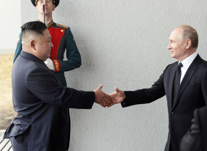 Handschlag in Wladiwostok: Mehr als eine Stunde dauerte das Vieraugengespräch