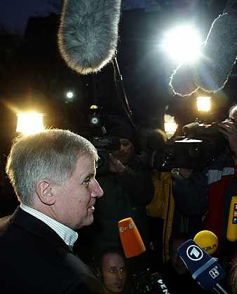 Seehofer nach seinem Treffen mit Stoiber: Karge Erklärung