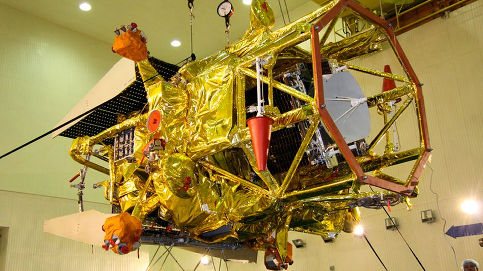 """""""Phobos Grunt"""" vor dem Start (Archivbild): Aufschlag zwischen 6. und 19. Januar 2012"""