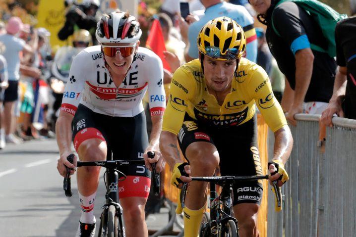 Roglic and Pojjacar at the 2020 Tour de France