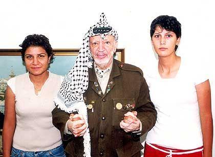 Waisen und Adoptivvater: Lina Jassir Arafat, Jassir Arafat und Zeana Jassir Arafat