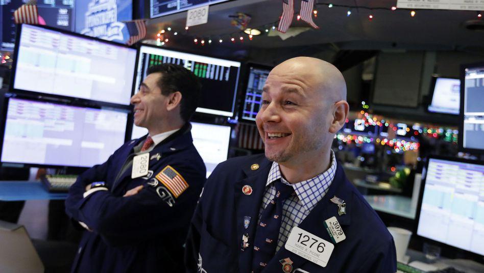 Aktienhändler an der New Yorker Börse