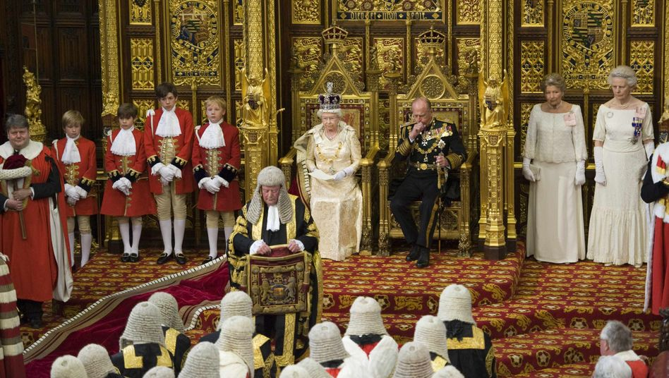 The mother of all parliaments: Queen Elizabeth at the annual state opening of parliament last year.