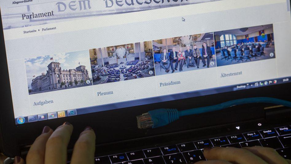 Website des Bundestags: das Leak betraf Politiker, Parteien und Prominente