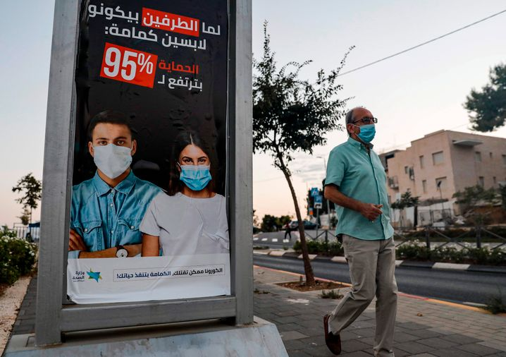 Das israelische Gesundheitsministerium wies 2255 neue Fälle aus