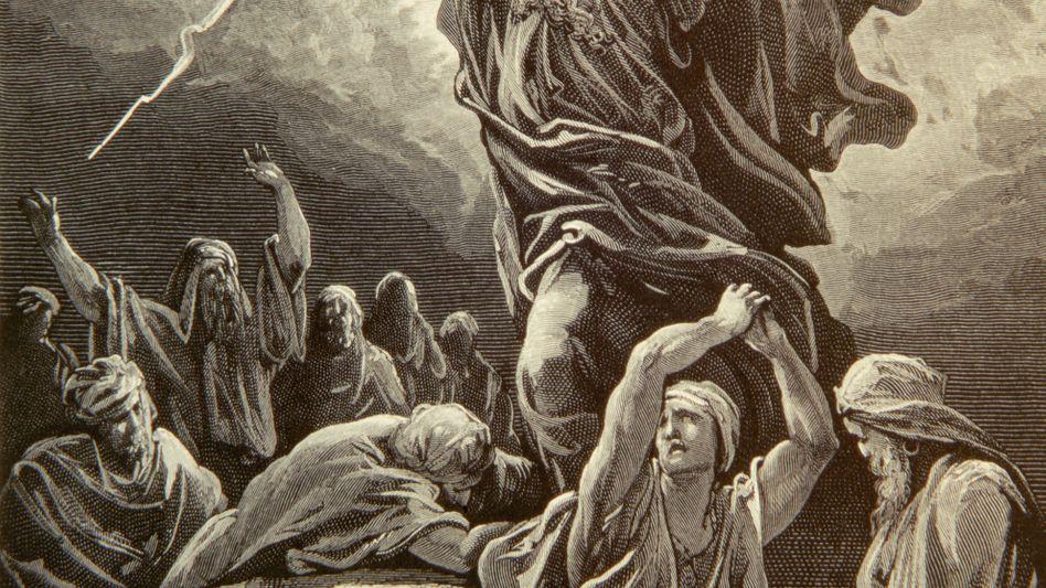 Moses mit den Gesetzestafeln - hat eine biblische Figur Amerika gegründet?
