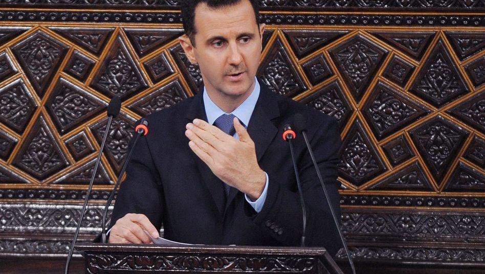 Präsident Baschar al-Assad: USA sehen Machtverzicht als einzigen Weg für einen Wandel