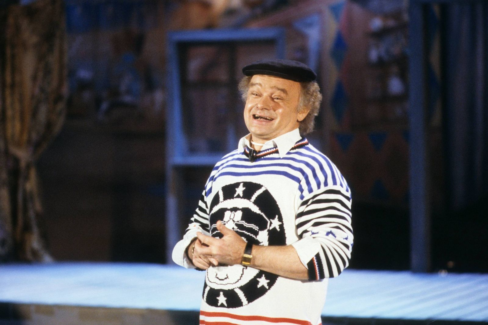 Fips Asmussen (Komiker) 11/87 dar Fips Asmussen im November 1987 Deutschland deutsch Deutscher Mann Alleinunternehmer K