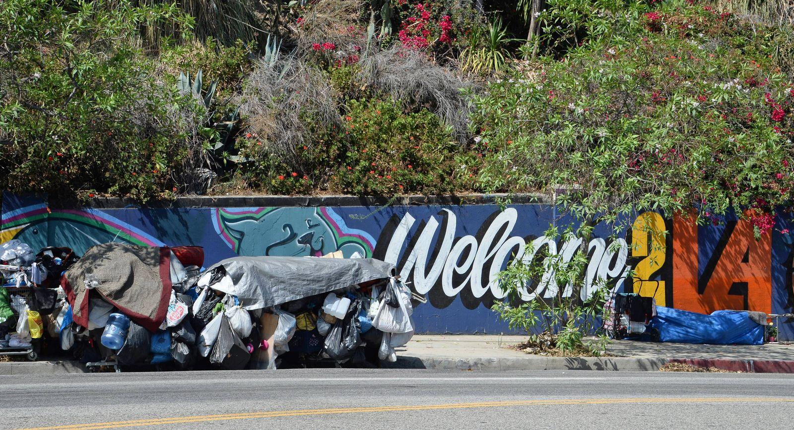 EINMALIGE VERWENDUNG Skid Row/ Los Angeles