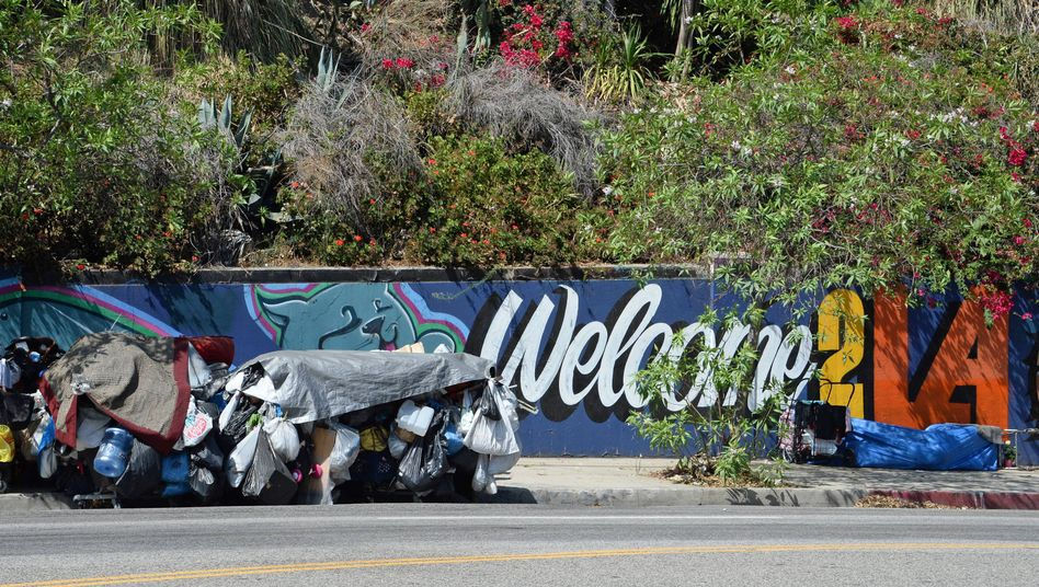Obdachlose in Los Angeles