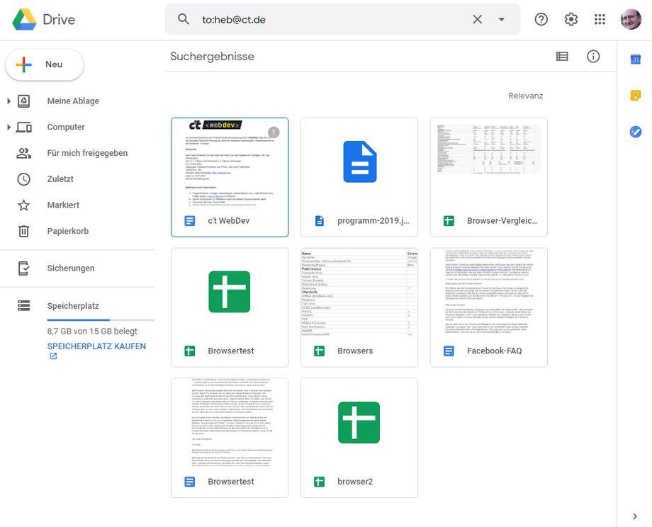 Eine schnelle Recherche bei Google Drive zeigt, ob verflossene Kollegen oder Freunde noch Zugriffsrechte auf Online-Dokumente haben