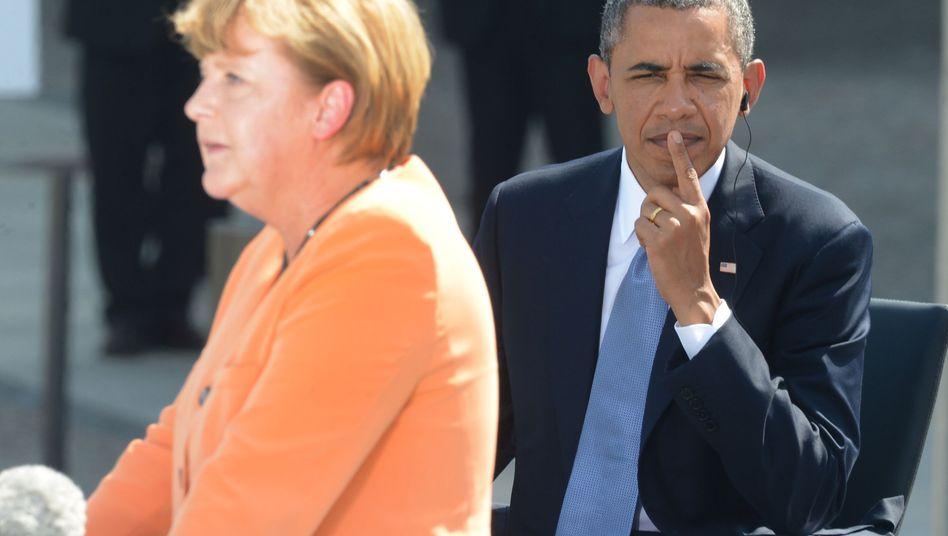 """Transatlantik-Partner Obama, Merkel: """"Wir werden das sehen"""""""