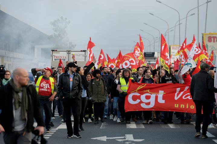 Proteste von Gewerkschaften in Paris (2016): Schwächung droht