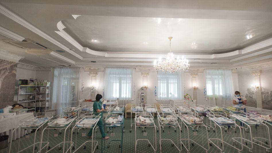 """Neugeborenenzimmer im """"Hotel Venice"""" der Firma BioTexCom in Kiew"""