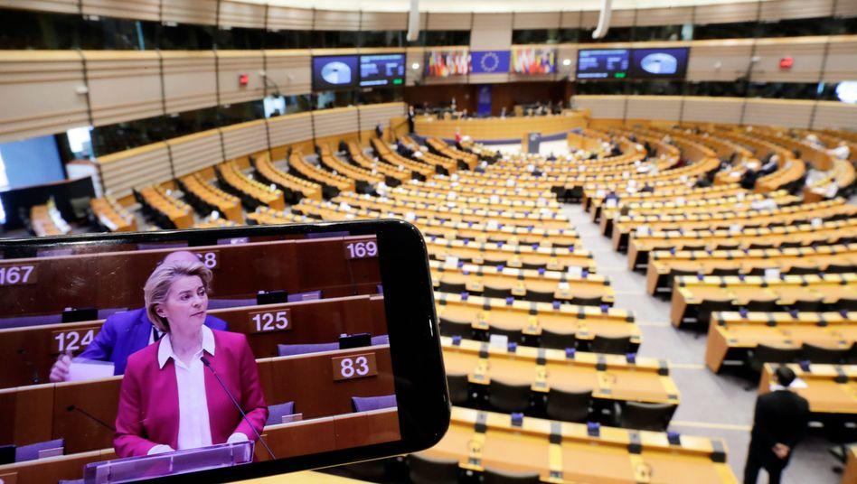 EU-Kommissionspräsidentin Ursula von der Leyen will Staaten mit einer Kurzarbeiterregelung unterstützen