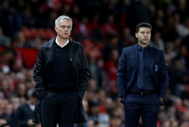 In der vergangenen Saison noch Konkurrenten, nun Vorgänger und Nachfolger: Pochettino (hinten) und Mourinho