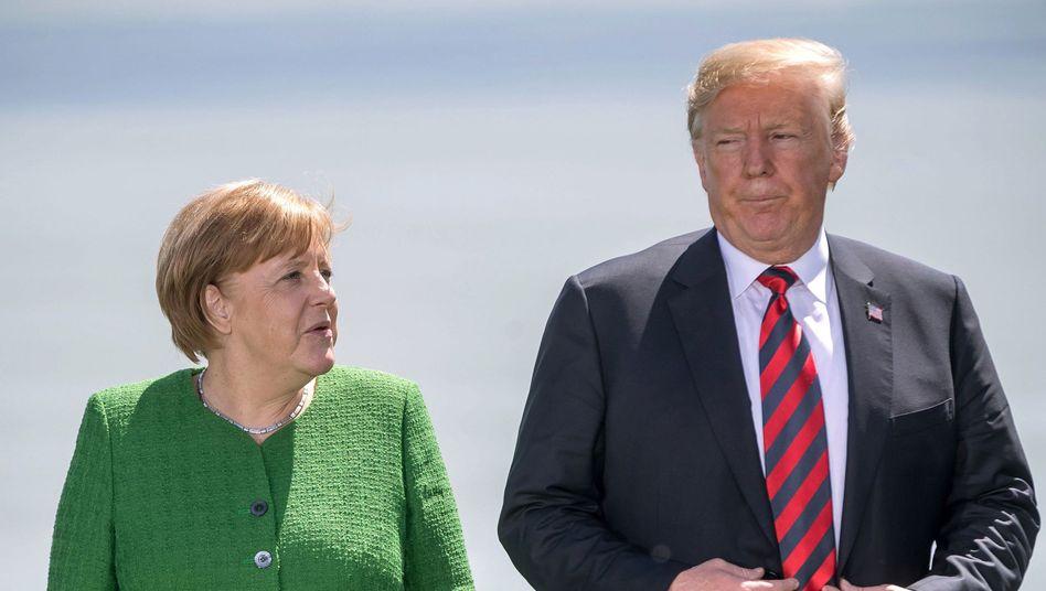 Staatschefs Merkel, Trump