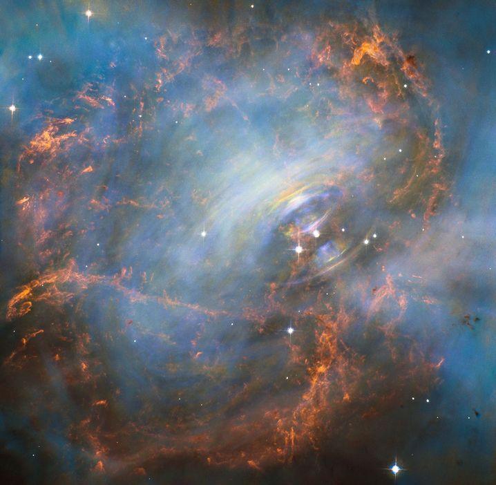 """Der Krebsnebel in einer optischen Aufnahme des """"Hubble""""-Teleskops"""