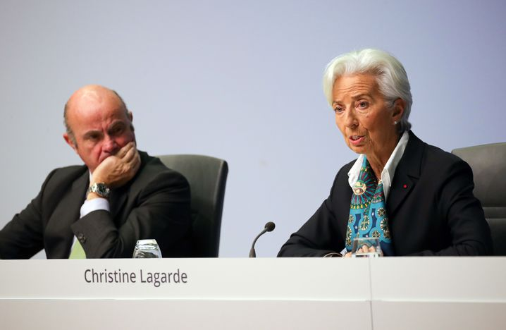 Lagarde mit EZB-Vize Luis de Guindos