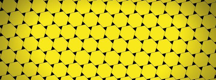 Kachelung aus Dreiecken und Sechsecken
