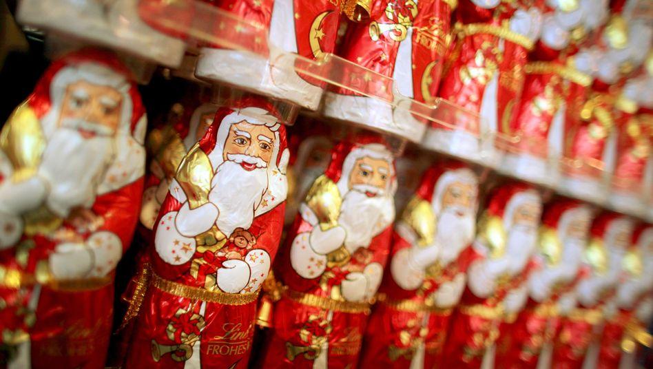 Schokoladenweihnachtsmänner (Symbolbild)