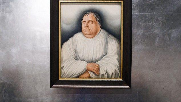 Cranach-Porträt des toten Luther