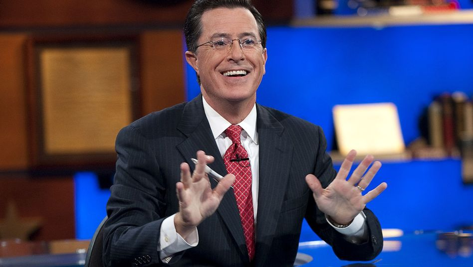 """Stephen Colbert in seiner Comedy-Central-Show: """"Total begeistert"""""""