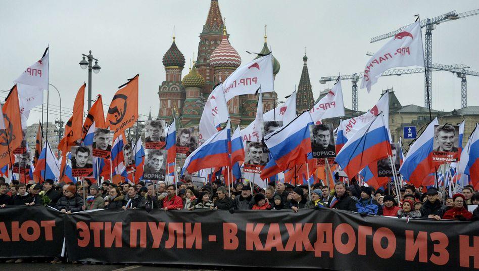 """Trauermarsch für Boris Nemzow: """"Wir wollen spüren, dass wir nicht allein sind"""""""