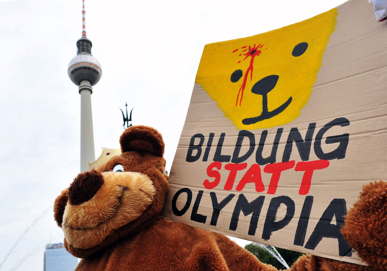Protest / Olympia in Berlin