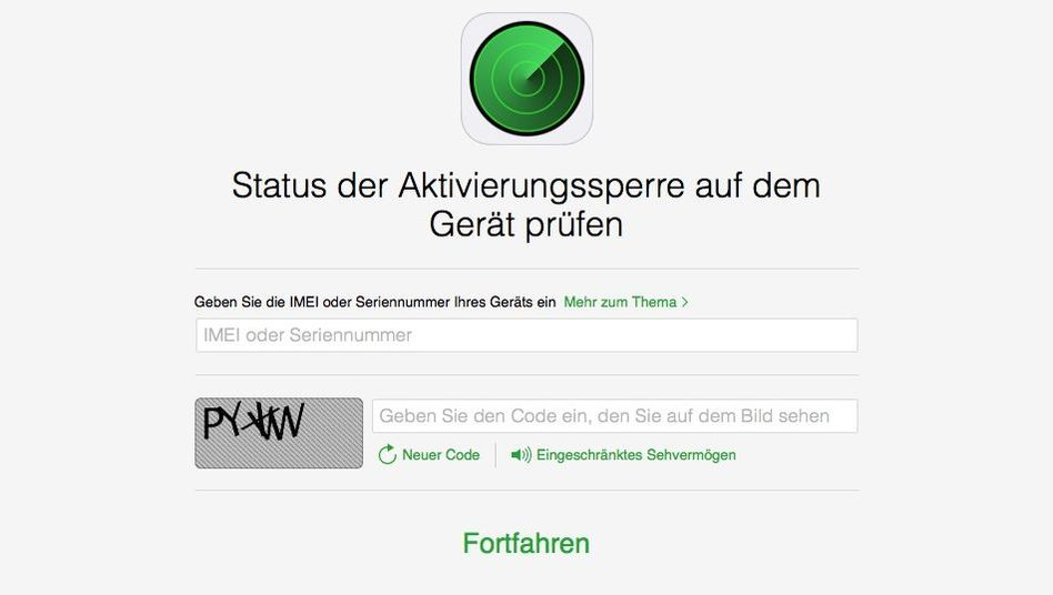 Test-Webseite bei Apple: Ist dieses iPhone gesperrt?